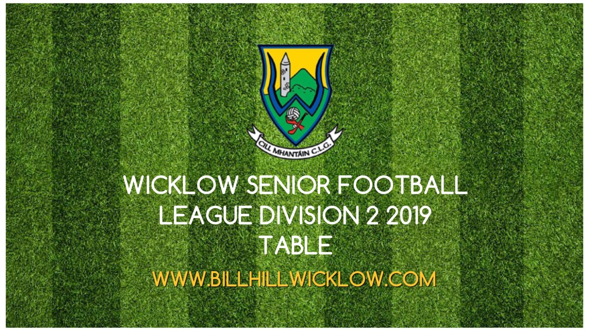 Senior Football League Division 2 Table 2019